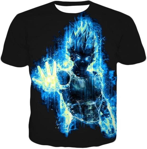 OtakuForm-OP T-Shirt T-Shirt / XXS Dragon Ball Z T-Shirt - Super Saiyan Blue Vegeta Flash T-Shirt