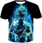 OtakuForm-OP T-Shirt T-Shirt / XXS Dragon Ball Z T-Shirt - Super Saiyan Goku Blue Flash T-Shirt