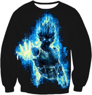 OtakuForm-OP Zip Up Hoodie Sweatshirt / XXS Dragon Ball Z Zip Up Hoodie - Super Saiyan Blue Vegeta Flash Hoodie