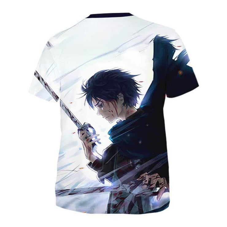 Attack On Titan T-Shirt S Eren Yeagar Cool T-Shirt - Attack On Titan 3D T-Shirt