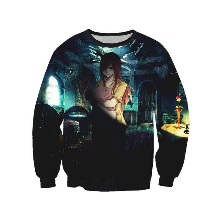 Fairytail Sweatshirt XXS Erza Scarlet Night Suit Sweatshirt - Fairy Tail 3D Printed Sweatshirt