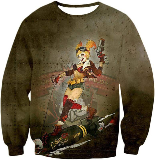 OtakuForm-OP T-Shirt Sweatshirt / XXS Extremely Wild and Crazy Super Villain Harley Quinn Animated Action T-Shirt