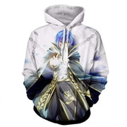 Fairy Tail Hoodie - Jellal White 3D Graphic Fairy Tail Clothing Hoodie - OtakuForm Anime Manga Shop Inc