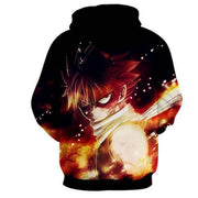 Fairytail Hoodie XXS Fairy Tail Hoodie - Natsu 3D Graphic Fairy Tail Merchandise