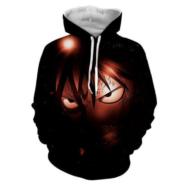 Fairytail Hoodie XXS Fairy Tail Jacket - Natsu Dragneel Face Fairy Tail 3D Graphic Cool Hoodie