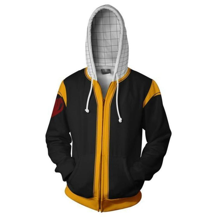 Fairytail Zip Up Hoodie XXS Fairy Tail Jacket - Natsu Zip Up Hoodie Jacket