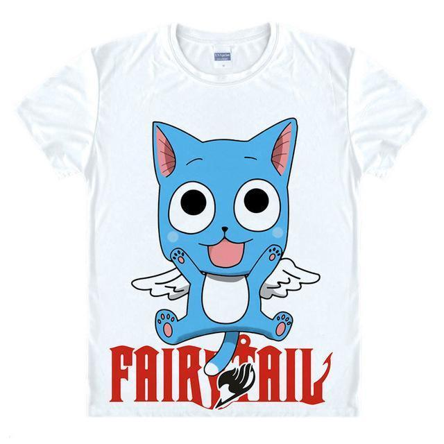 Anime Merchandise T-Shirt M Fairy Tail Shirt  - Flying Happy T-Shirt