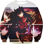 OF2 T-Shirt Sweatshirt / US XXS (Asian XS) Fate Stay Night Beautiful Rin Tohsaka and Females Fate Series T-Shirt FSN063
