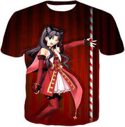 OF2 T-Shirt T-Shirt / US XXS (Asian XS) Fate Stay Night Beautiful Rin Tohsaka Dancer Themed T-Shirt FSN010