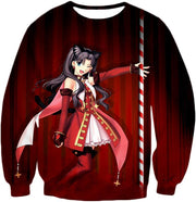 OF2 T-Shirt Sweatshirt / US XXS (Asian XS) Fate Stay Night Beautiful Rin Tohsaka Dancer Themed T-Shirt FSN010