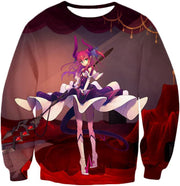 OF2 Hoodie Sweatshirt / US XXS (Asian XS) Fate Stay Night Cool Elizabeth Bathory Grey Action Hoodie FSN062