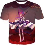 OF2 T-Shirt T-Shirt / US XXS (Asian XS) Fate Stay Night Cool Elizabeth Bathory Grey Action T-Shirt FSN062