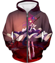 OF2 Zip Up Hoodie Zip Up Hoodie / US XXS (Asian XS) Fate Stay Night Cool Elizabeth Bathory Grey Action Zip Up Hoodie FSN062
