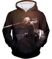 OF2 T-Shirt Hoodie / US XXS (Asian XS) Fate Stay Night Cool Saber Alter Arturia Browm Action T-Shirt FSN064