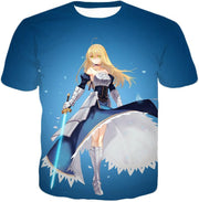 OF2 T-Shirt T-Shirt / US XXS (Asian XS) Fate Stay Night Legendary Warrior Arturia Pendragon aka King Arthur T-Shirt FSN065