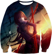 OF2 T-Shirt Sweatshirt / US XXS (Asian XS) Fate Stay Night Powerful Rider Scathach Action T-Shirt FSN060
