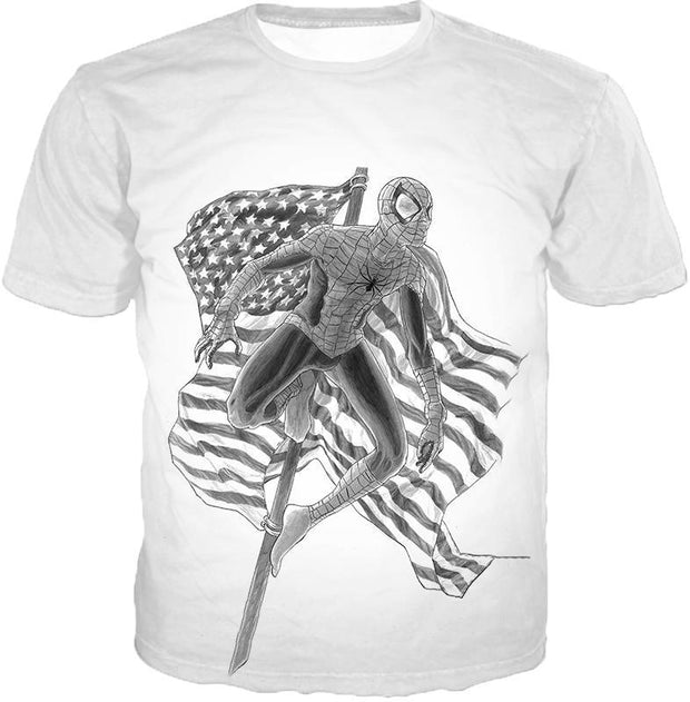 OtakuForm-OP T-Shirt T-Shirt / XXS Favourite American Hero Spiderman Sketch White T-Shirt