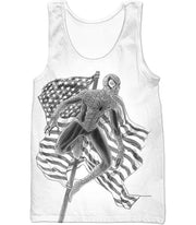 OtakuForm-OP T-Shirt Tank Top / XXS Favourite American Hero Spiderman Sketch White T-Shirt