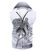 OtakuForm-OP T-Shirt Hooded Tank Top / XXS Favourite American Hero Spiderman Sketch White T-Shirt