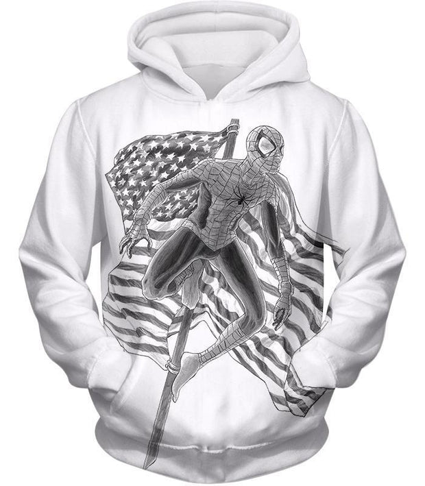 OtakuForm-OP T-Shirt Hoodie / XXS Favourite American Hero Spiderman Sketch White T-Shirt