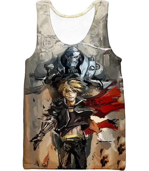 OtakuForm-OP T-Shirt Tank Top / XXS Fullmetal Alchemist Amazing Elrich Brothers Edward x Alphonse Awesome Anime Art T-Shirt