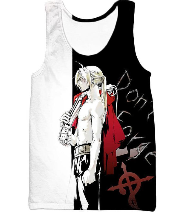 OtakuForm-OP Hoodie Tank Top / XXS Fullmetal Alchemist Cool Alchemist Edward Elrich Amazing Black and White Anime Hoodie