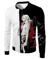 OtakuForm-OP Hoodie Jacket / XXS Fullmetal Alchemist Cool Alchemist Edward Elrich Amazing Black and White Anime Hoodie
