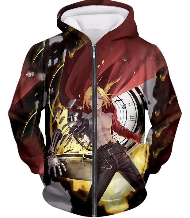 Fullmetal Alchemist Cool Edward Elrich Anime Action Broken Automail Amazing Graphic Hoodie