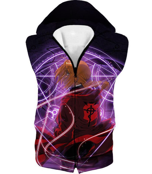 OtakuForm-OP T-Shirt Hooded Tank Top / XXS Fullmetal Alchemist Fullmetal Alchemist Edward Elrich Anime Alchemy Action T-Shirt