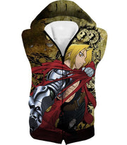 OtakuForm-OP Zip Up Hoodie Hooded Tank Top / XXS Fullmetal Alchemist Powerful Alchemist Edward Elrich Featuring Automail Right Hand Zip Up Hoodie
