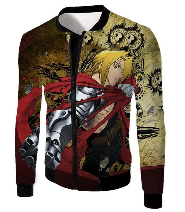 OtakuForm-OP Zip Up Hoodie Jacket / XXS Fullmetal Alchemist Powerful Alchemist Edward Elrich Featuring Automail Right Hand Zip Up Hoodie