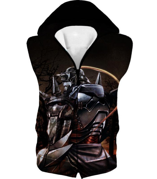 OtakuForm-OP Hoodie Hooded Tank Top / XXS Fullmetal Alchemist Trapped in an Armour Cool Hero Alphonse Elrich Graphic Hoodie