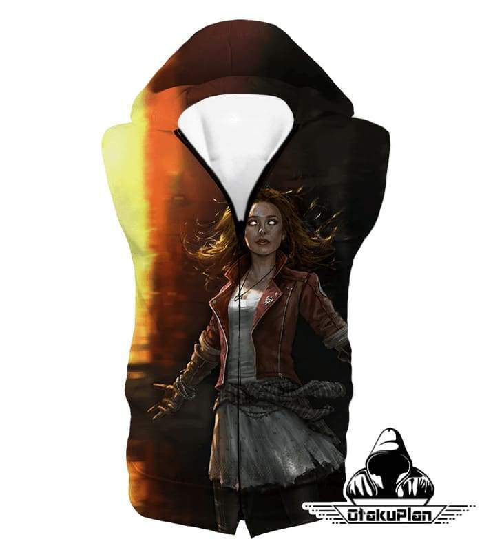 OtakuForm-OP Sweatshirt Hooded Tank Top / XXS Hot Chaos Magic User Scarlet Witch 3D Action Sweatshirt