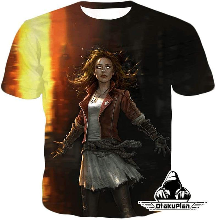 OtakuForm-OP Sweatshirt T-Shirt / XXS Hot Chaos Magic User Scarlet Witch 3D Action Sweatshirt