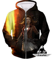 OtakuForm-OP Sweatshirt Zip Up Hoodie / XXS Hot Chaos Magic User Scarlet Witch 3D Action Sweatshirt