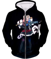 OtakuForm-OP Sweatshirt Zip Up Hoodie / XXS Hottest DC Villain Harley Quinn Promo HD Black Sweatshirt