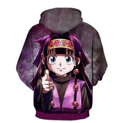 Hunter x Hunter Hoodie - Alluka Targeting Purple 3D Impressive Graphic Hoodie - OtakuForm Anime Manga Shop Inc