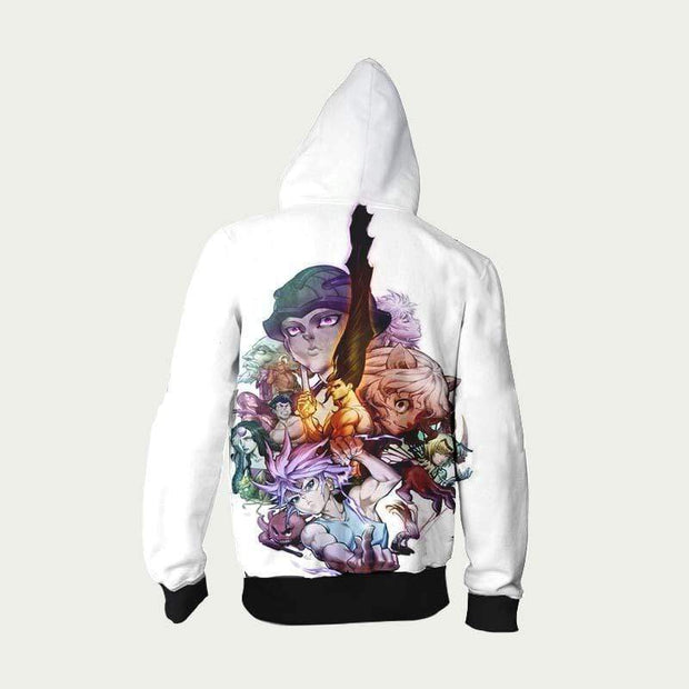 Hunter x Hunter Zip Up Hoodie XXS Hunter x Hunter Hoodie - Full Cast Manga Graphic Zip Up Hoodie