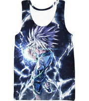 OtakuForm-OP Zip Up Hoodie Tank Top / XXS Hunter X Hunter Killua Zoldyck Lightning Zip Up Hoodie - HXH 3D Zip Up Hoodies And Clothing Hoodie