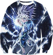 OtakuForm-OP Zip Up Hoodie Sweatshirt / XXS Hunter X Hunter Killua Zoldyck Lightning Zip Up Hoodie - HXH 3D Zip Up Hoodies And Clothing Hoodie