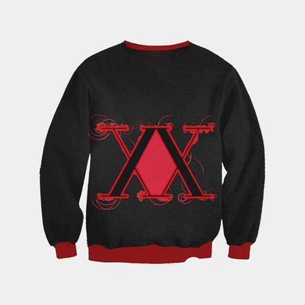 Hunter x Hunter Sweatshirt XXS Hunter x Hunter Logo Red Sweatshirt - Hunter x Hunter 3D Printed Sweatshirt