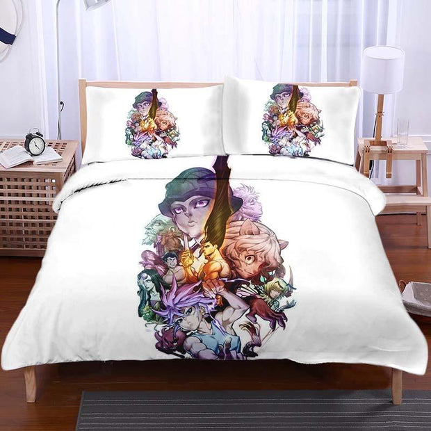 Hunter x Hunter Bedset TWIN HxH All Characters Bedset - Hunter x Hunter 3D Printed Bedset
