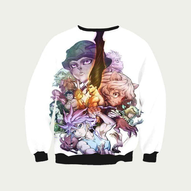 Hunter x Hunter Sweatshirt XXS HxH All Characters Sweatshirt - Hunter x Hunter 3D Printed Sweatshirt