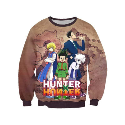 Hunter x Hunter Sweatshirt XXS HXH Group Sweatshirt - Hunter x Hunter 3D Printed Sweatshirt