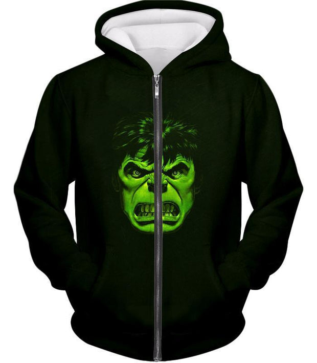 OtakuForm-OP Zip Up Hoodie Zip Up Hoodie / XXS Incredible Green Hulk Promo Black Zip Up Hoodie