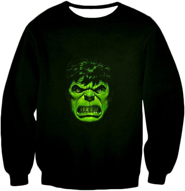 OtakuForm-OP Zip Up Hoodie Sweatshirt / XXS Incredible Green Hulk Promo Black Zip Up Hoodie