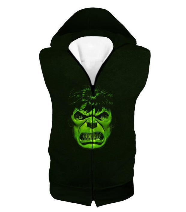 OtakuForm-OP Zip Up Hoodie Hooded Tank Top / XXS Incredible Green Hulk Promo Black Zip Up Hoodie