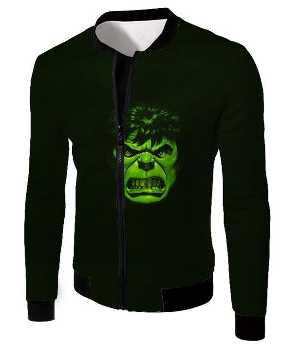OtakuForm-OP Zip Up Hoodie Jacket / XXS Incredible Green Hulk Promo Black Zip Up Hoodie