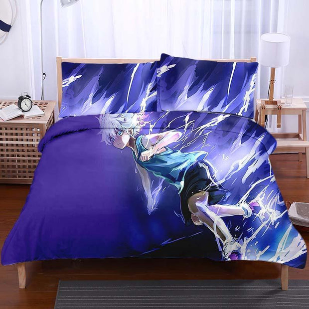 Hunter x Hunter Bedset TWIN Killua Zoldyck Purple Bedset - Hunter x Hunter 3D Printed Bedset