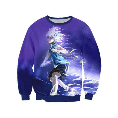 Hunter x Hunter Sweatshirt XXS Killua Zoldyck Purple Sweatshirt - Hunter x Hunter 3D Printed Sweatshirt